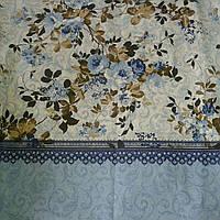Бязь прованс с кружевом и цветами