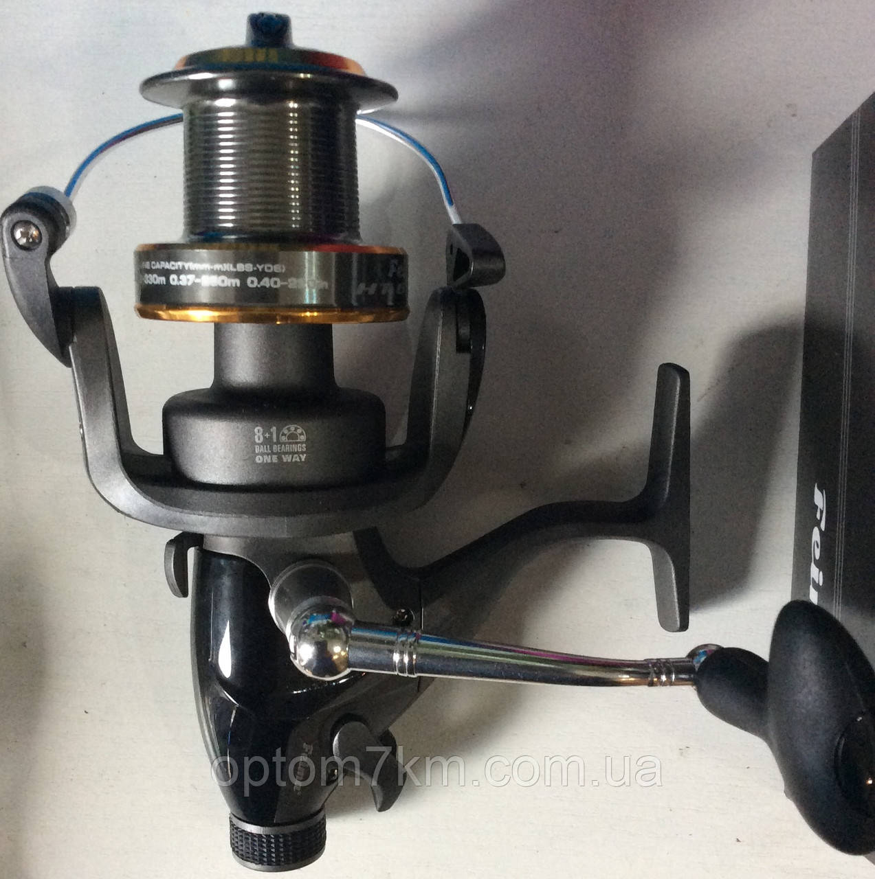 Катушка с байтранером Feima HT-6000, 8+1bb мет