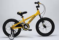 Детский велосипед 18 Royal Baby Bull Dozer желтый