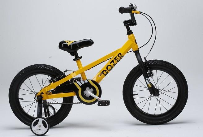 Детский велосипед 18 Royal Baby Bull Dozer желтый, фото 1