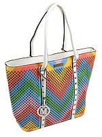 Белая сумка классика цветная