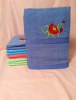 Банное махровое полотенце Роза 10 шт в уп. Размер 1.4х70 Хлопок