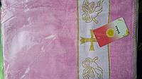 Крыжма цветная. голубая и розовая полотенце для крещения