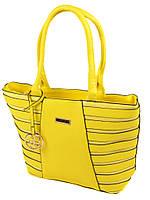 Женская сумка классическая желтая