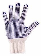 Трикотажные перчатки с ПВХ нанесением (110)