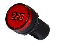 Вольтметр цифровой измеритель напряжения Аско AD22-22DVM красный