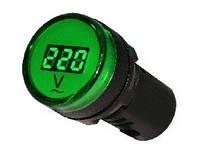 Вольтметр цифровой измеритель напряжения Аско AD22-22DVM зеленый