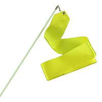 Гимнастическая лента с палочкой 6 м  желтая