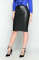 Женская стильная юбка-карнадаш из эко-кожи