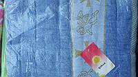 Крыжма полотенце для крещения голубая хлопок-велюр 1,4х70