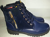 Ботинки женские демисезонные № x510 синие ВЕРОН