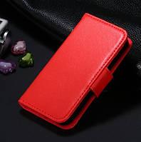 Красный чехол-книжка для iPhone 5/5S из эко-кожи