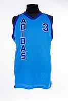 Майка мужская спортивная безрукавка синяя adidas