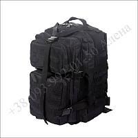 Тактический рюкзак 45 литров черный для военных, армии, туризма нейлон