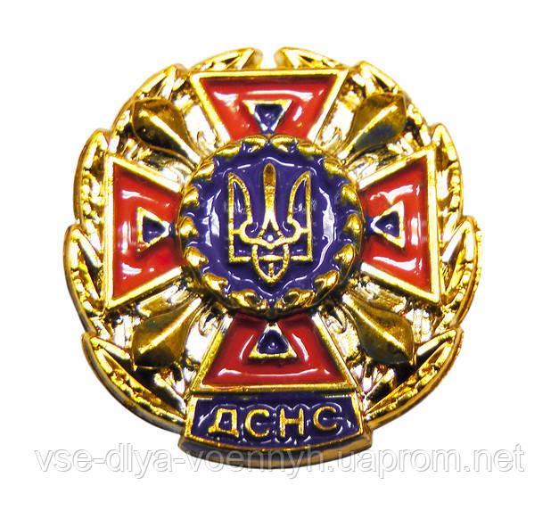 Емблема ДСНС помаранчева, золото