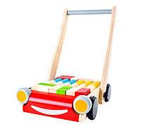 Plan Toys - Деревянная игрушка Ходунки с кубиками