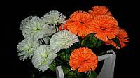 Искусственные цветы - гвоздика, разные цвета, выс. 52 см., 10 шт. в упаковке, 60.75 гр., фото 1