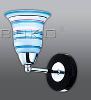 Бра BUKO 147 1*Е14 (129 10 1) хром + синий