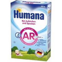 Молочная сухая смесь HUMANA AR для детей с срыгиванием, коликами, запорами с 0. 400 гр.