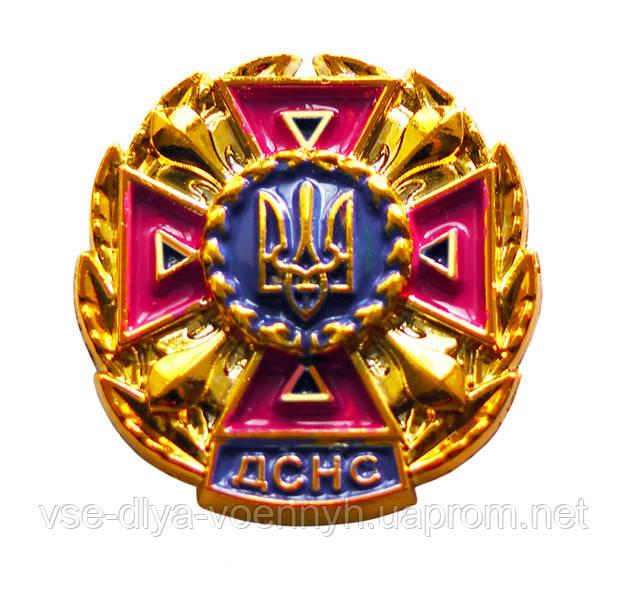 Емблема ДСНС малина, золото