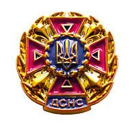 Эмблема ДСНС малина, золото