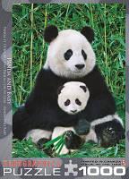 """Пазл """"Панда с детенышем"""", 1000 элементов, EuroGraphics, фото 1"""