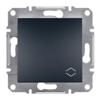 Выключатель одноклавишный проходной Schneider Electric Asfora Антрацит EPH0400171