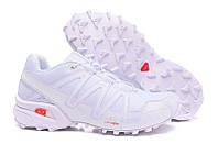 Кроссовки Salomon Speedcross 3 all white. мужские туристические кроссовки