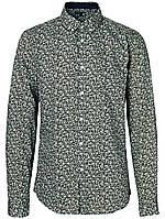 Мужская рубашка в бежево-оливковом цвете Frederich от Solid  в размере L