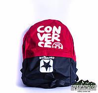 Модный городской рюкзак Converse красный с черным