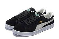 Кроссовки мужские Puma Suede Classic Mono Iced Black White (Пума замша черно-белые)