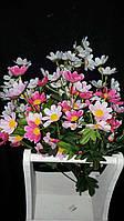 Искусственные цветы - космея, 4 цвета, выс. 57 см., 4 шт. в упаковке, 44.55 гр.