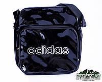 Модная сумка на плечо Adidas лаковая черная