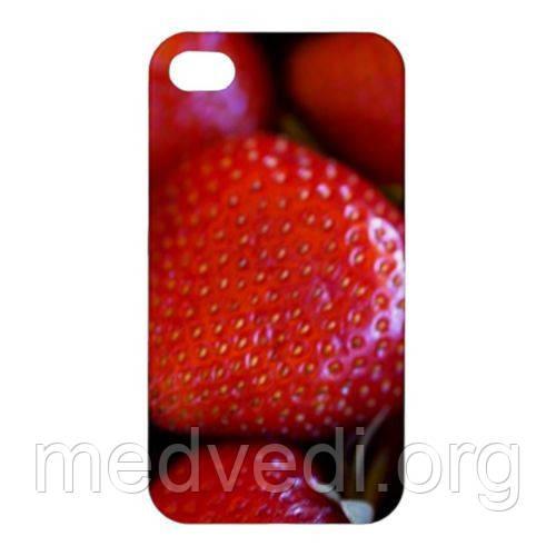 Чехол с клубникой для iPhone 4/4S, на айфон четыре