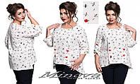 Блуза женская батал от ТМ Minova р. 50-60