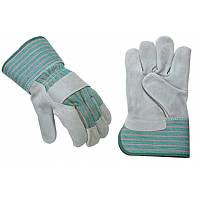 Перчатки кожанные комбинированные С24