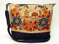 Женская джинсовая стеганная сумочка Украина, фото 1