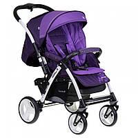 Детская прогулочная коляска книжка Quatro Monza фиолетовая 9 купить оптом и в розницу в Украине 7 км