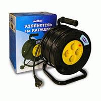 Удлинитель на катушке SVITTEX 50м с кабелем 2х1 5