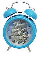 """Часы-будильник металличекие """"Парусник"""""""