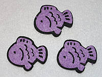 Высечка Рыбка фиолетовая 373