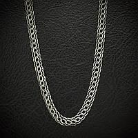 Серебряная цепочка мужская, 550мм, 23 грамма, плетение Питон, чернение