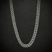 Серебряная цепочка, 550мм, 25 грамм, плетение Питон, чернение, фото 2