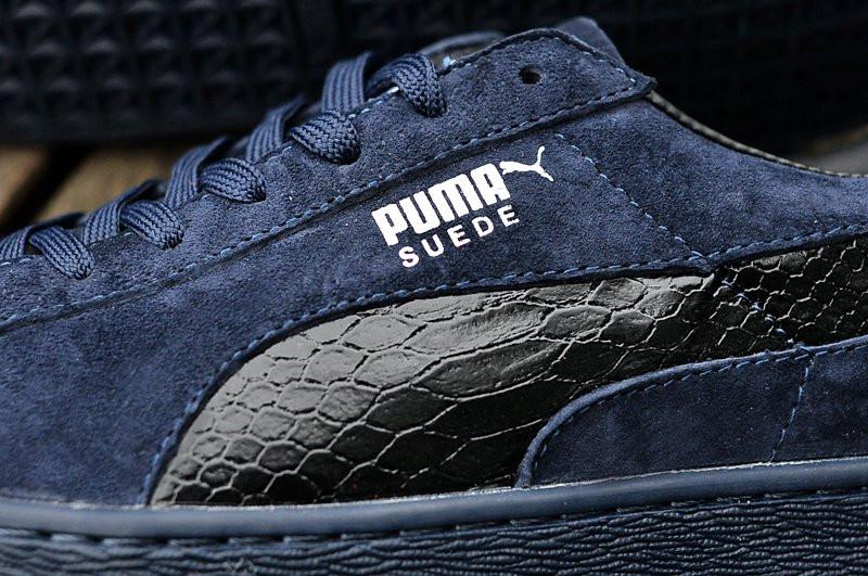 797bdb371964 ... Кроссовки мужские Puma Suede Leather Classic Navy Blue (кроссовки  кожаные пума, мужские пума) ...