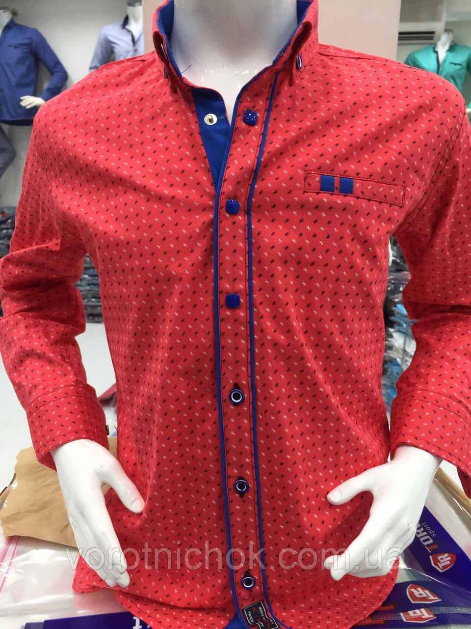 Детская рубашка 6- 14 лет