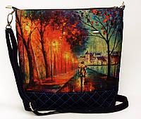 Женская джинсовая стеганная сумочка Вечер, фото 1