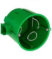 Коробка установочная (подрозетник) бетон соед. с винтом (зеленый) 65х60 (IMT35101)