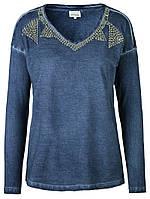 Женская футболка блуза на длинный рукав Flores от Peppercorn в размере М