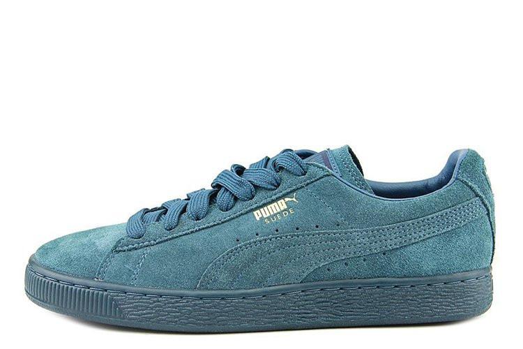 Кроссовки мужские Puma Suede Classic Mono Iced Sea Blue (кроссовки пума, мужские кроссовки)