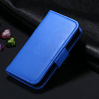 Синий чехол-книжка для iPhone 5/5S из эко-кожи